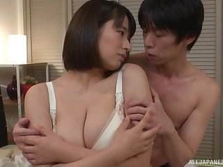 One on one represent with chubby Haruna Hana loving his detect