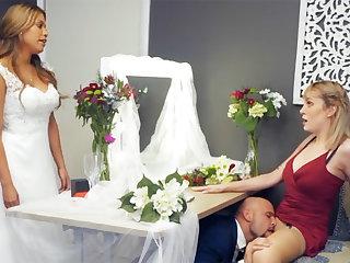 Bridesmaid calm down groom hard dealings