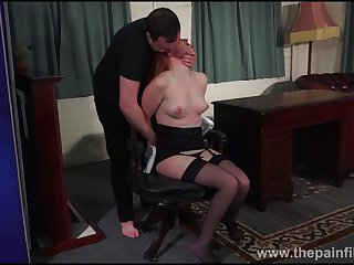 Redhead submissive Ellarnas lashing and erotic domiation