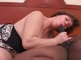 Cuckolds wife gagging on huge black cock bench loves it
