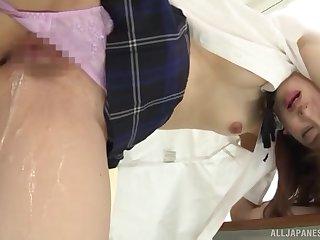 Japanese schoolgirl in hard scenes of sex at bus
