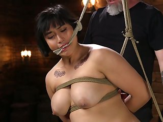 A bit chubby prexy whore Mia Little gets her pussy drilled hard with toys