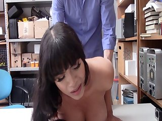 Latina pet gets her big breasts squeezed