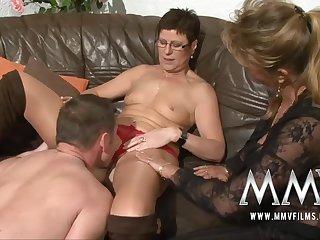 MMV Films Pierced MILF fit together gets male stick