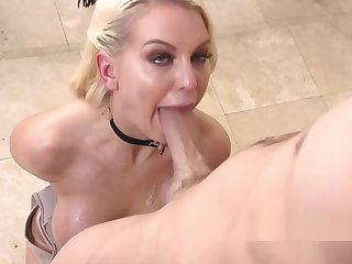 Carnal special blonde gags big dick