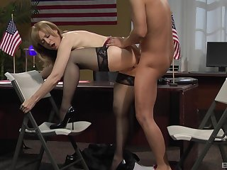 Tight adult fucked to a catch fore office by a catch new cadger