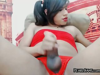 Desirable Masturbating Tranny Nymphomaniac