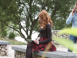 Ginger nerdy student Mary Solaris allows to invade her anal hole