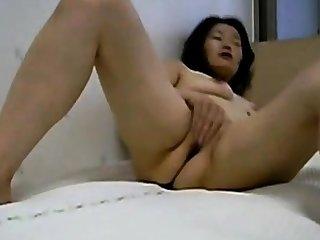 Korean Asian Homemade  - masturbating, cunt, cock cum