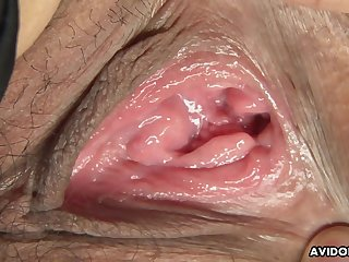 Cute Asian babe receives awesome pussy make mincemeat of from sex-mad guy