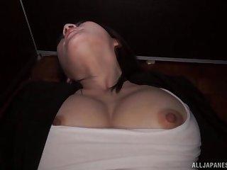 Cute Japanese solo model Torii Miki masturbates untaught