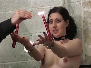 Electro bdsm and rigid bondage of slave Honesty Calliaro