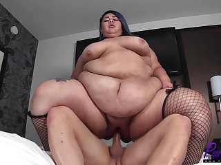 tempting ssbbw with huge aggravation in hardcore action with cumshot