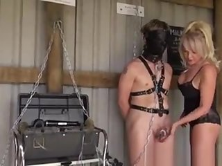 Busty Dom Submits Subs Into Gayblowjob