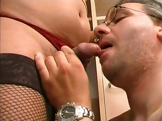 Nasty dominating confection tranny