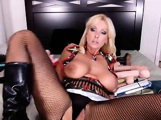 Prex blonde mature masturbation with sextoy