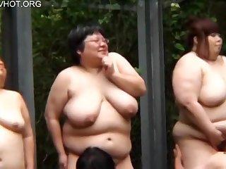 Busty Japanese BBW ladies with big naturals