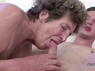 Granny Seduce Young Cutie Unreserved Boy to Have Intercourse her in her AssHole