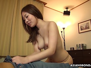 Dirty minded, amateur chick, Yui Shiina likes to succeed in throatfucked