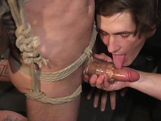 Gay BDSM anal porn with two lickerish lovers