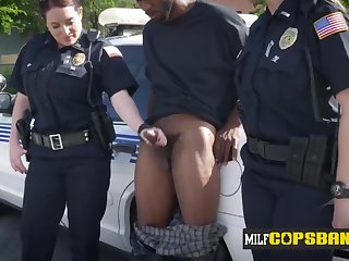 Heavy-Breasted breasty cops fancy kissing BIG Blackguardly COCK