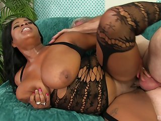 Sexy ebony Mirage is the real queen be advisable for sex merriment with old stranger