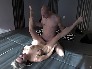 Julia Pink pleasures a fit hunk with her wet indiscretion and pussy