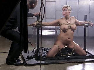 Short haired blonde MILF Ryan Keely deserves some hardcore BDSM fuck once in a while