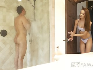 Sex-starved babe Self-sacrifice Crawford gets intimate with stepbrother