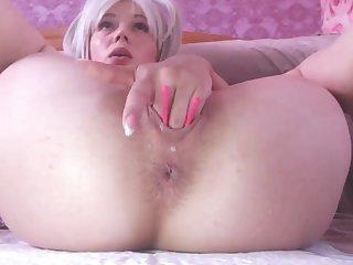 blonde babe enjoys 2 lovense vibrators deep dominant will not hear of pussy