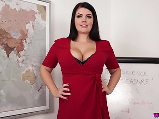 Delicious chubby brunette Kylie K gets naked and shows not present ambrosial boobs and ass