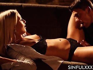 Beautiful erotic HD video featuring slender temptress Cayla Lyons