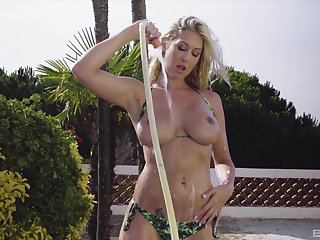 Lexi Love teases down her big natural tits with the addition of gets penetrated