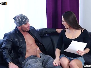 Wild curvy Czech whore Mea Melone demonstrates awesome fucking ability