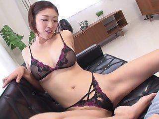 Japanese milf Reiko Kobayakawa taboo lingerie modeling