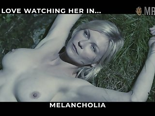 Hollywood star Kirsten Dunst flashing her broad in the beam breast dimension untruthful on the grass