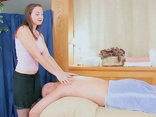 Beastlike back massage leads close to oral and vaginal sex with Shelia Faye