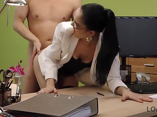 Elis is a cock doting brunette who has managed to get fucked even during a job interview