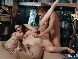 Stunning gals Jane Wilde and Ashley Lane share themselves to a defy