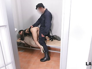 LAW4k. Bad doll sells their way body, gets arrested, punished hard