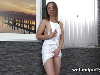 Licentious girl Lilith Sweet is pumping will not hear of pussy before masturbation