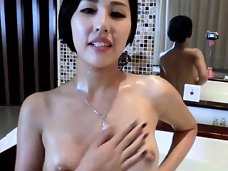Chinese slut taking a unclutter with a webcam.