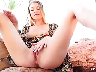 FTV Girl fingers her pussy under her rags