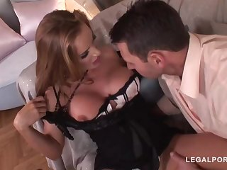 Trendy mature with a ultra-cute, chubby butt, Bonny Bon got bum-fucked until she commenced pumping out homologous to naughty